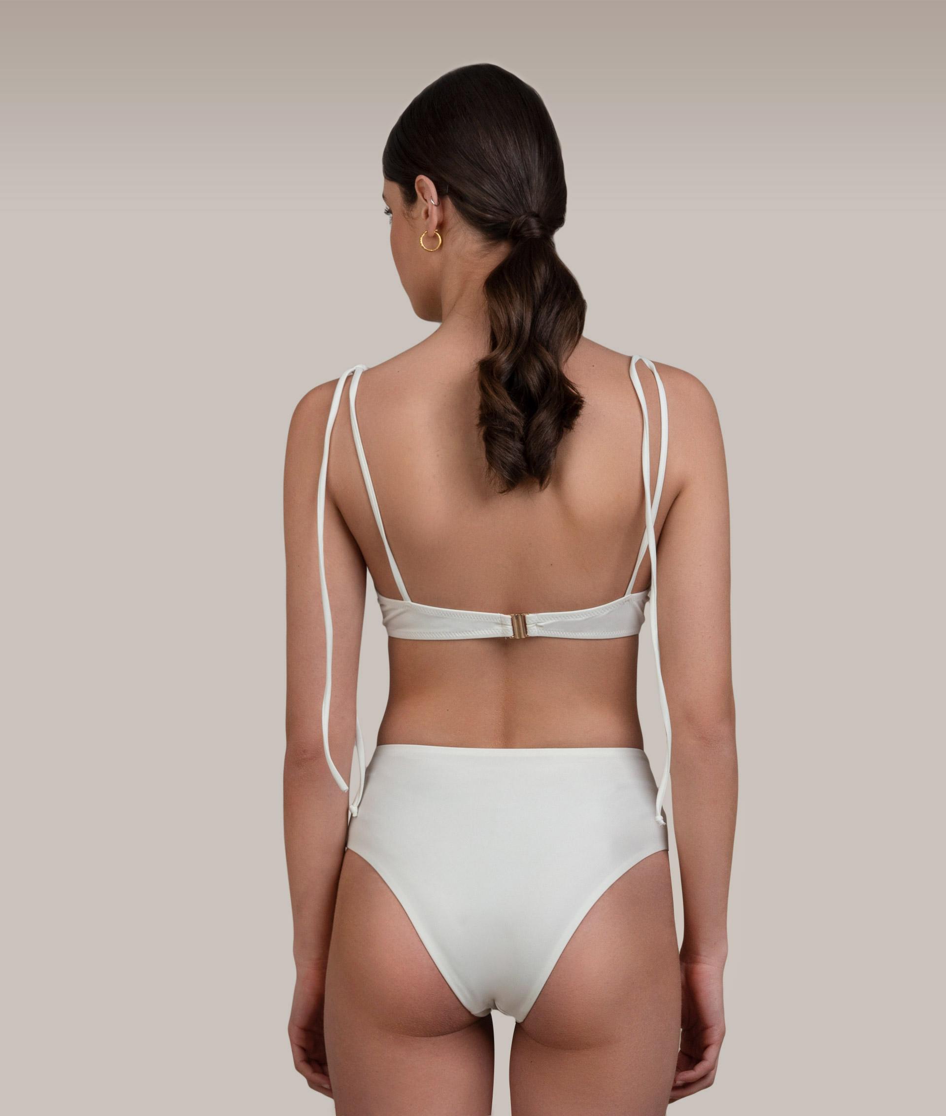 Ava White Bikini